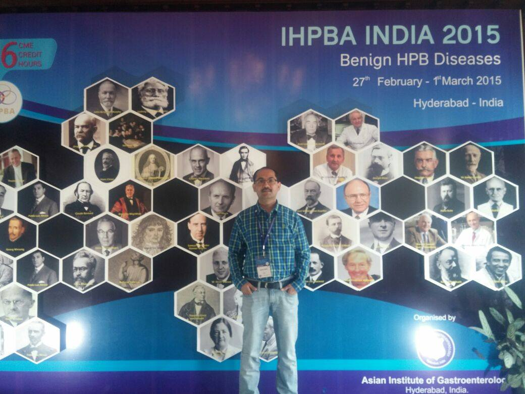 IHPBA ( International Hepato-Pancreato Biliary Association ) organised by Asian Institute of gastroenterology, India